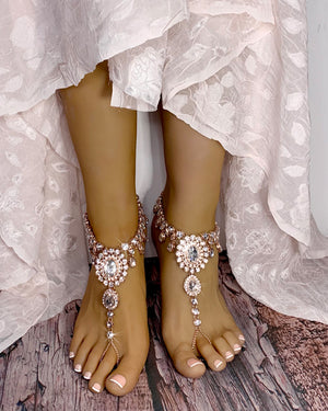 Starla Rose Gold Barefoot Sandals