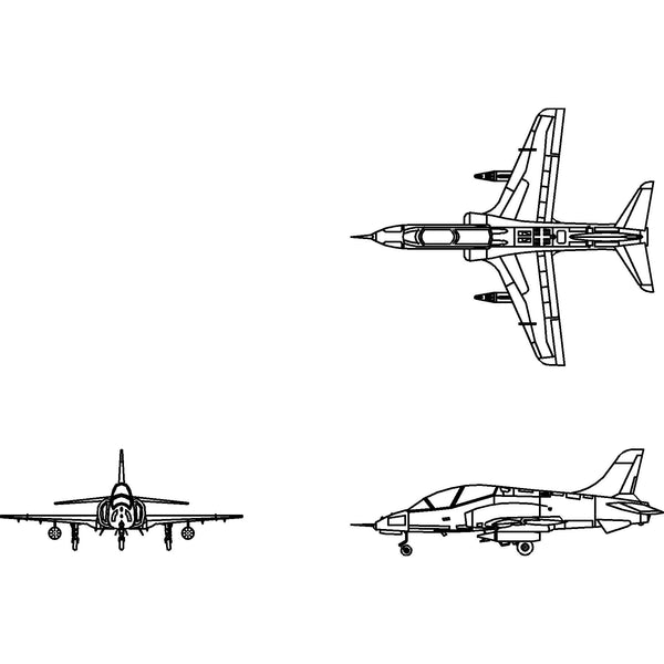 Front Elevation In 2d : Aircraft bae hawk fighter jet d custom