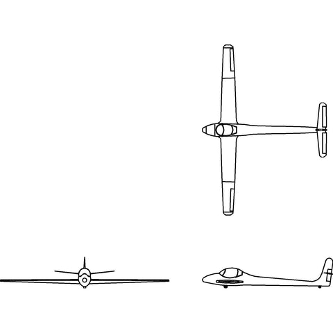 Aircraft - Fixed Wing Glider [2D]