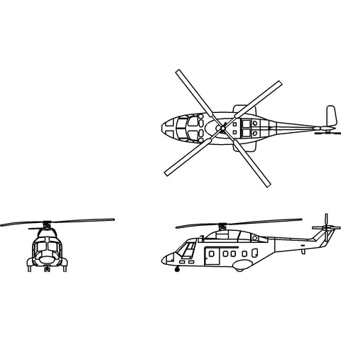 Aircraft - Medium Utility Helicopter 1 [2D]