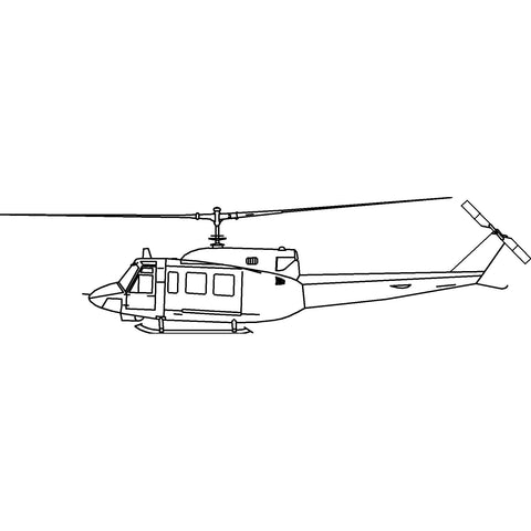 Aircraft - Medium Utility Helicopter 2 [2D Elevation]