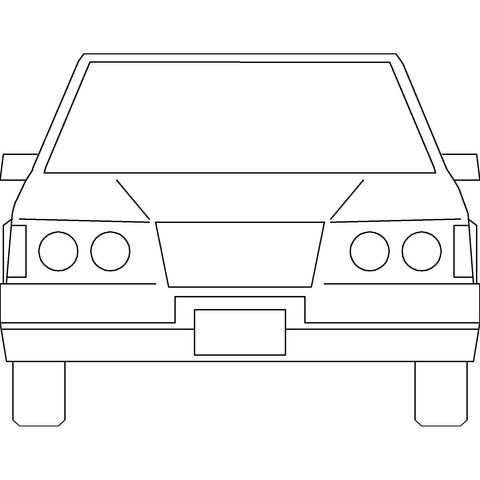 Cars - Generic Car [2D Front Elevation]