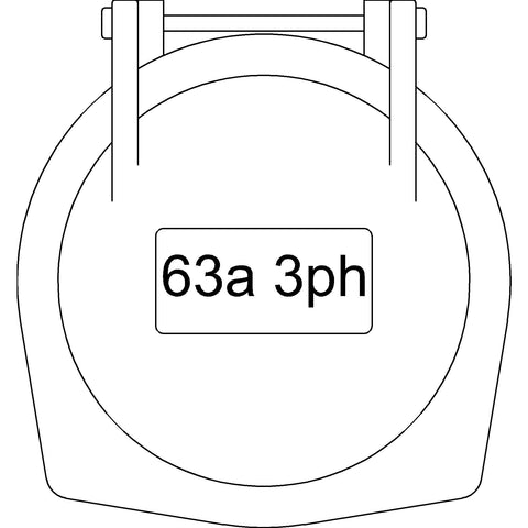 Electrical - 63A [2D] Chassis Socket Single-Phase