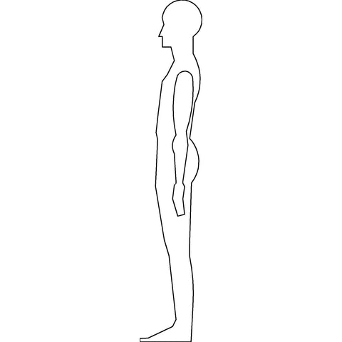 People - Man Standing Silhouette [2D Side Elevation]