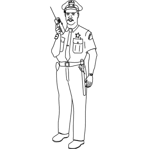People - Police Office Male [2D Front Elevation]