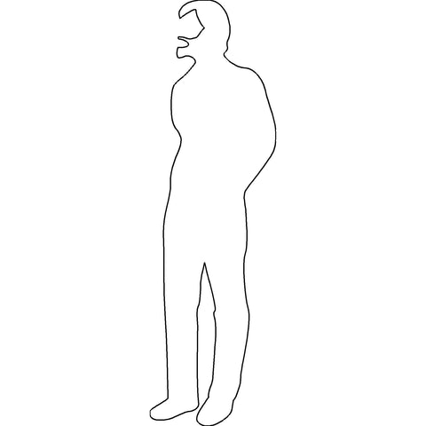 People - Person Standing Silhouette 2 [2D Front Elevation]