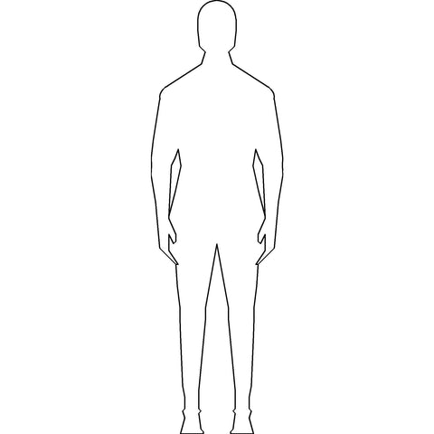 People - Person Standing Silhouette 1 [2D Front Elevation]