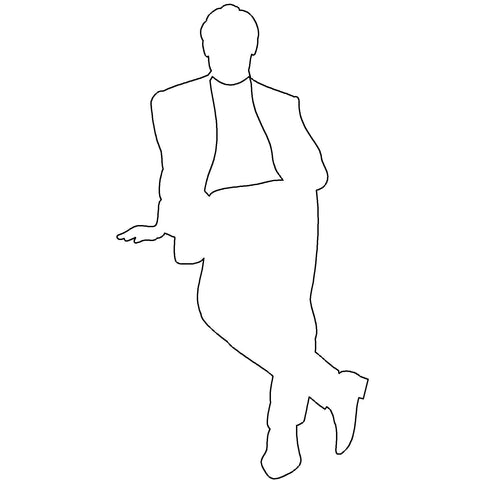 People - Man Standing Silhouette 1 [2D Front Elevation]