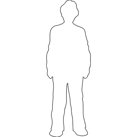 People - Man Standing Silhouette 2 [2D Front Elevation]