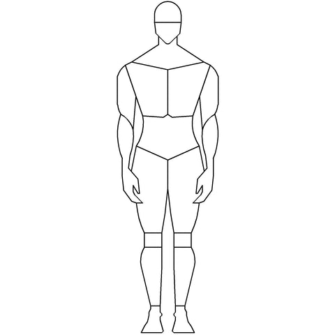 People - Man Standing Mannequin-Style [2D Front Elevation]