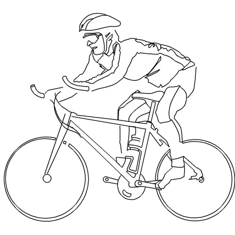 People - Man Cycling [2D Side Elevation]