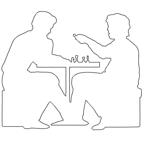 People - People Playing Chess [2D Side Elevation]
