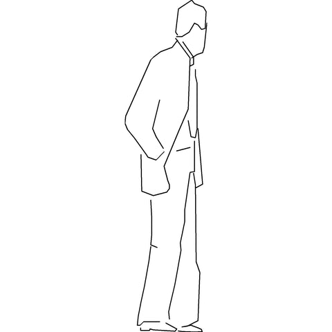 People - Man Standing [2D Side Elevation]