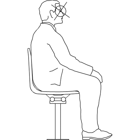 People - Man Sitting 1 [2D Side Elevation]