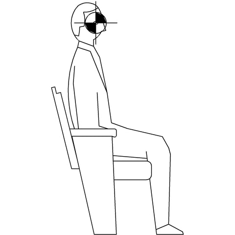 People - Man Sitting 2 [2D Side Elevation]