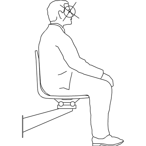 People - Man Sitting 3 [2D Side Elevation]