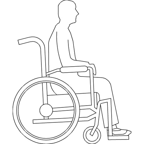 People - Wheelchair User [Side Elevation]