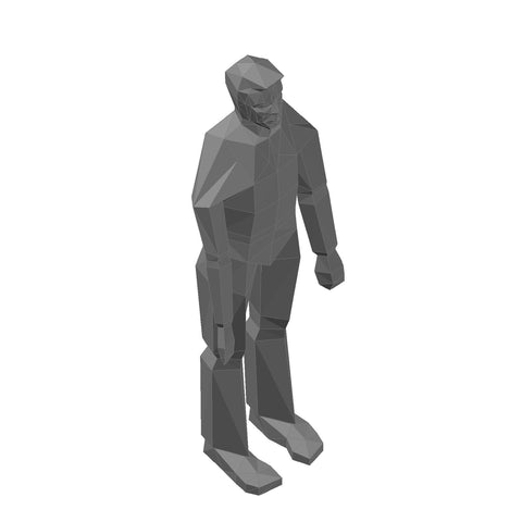 People - Man Standing, Rough [3D Mesh]