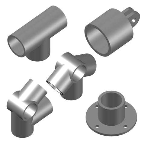 Rigging Hardware - Hex Key Tube Fittings [3D]