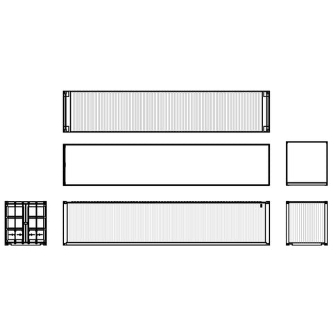 Shipping - Container ISO 40' [2D]
