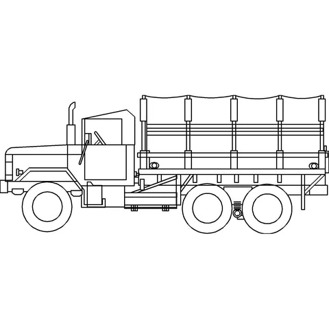 Trucks - Military Truck [2D Elevation]