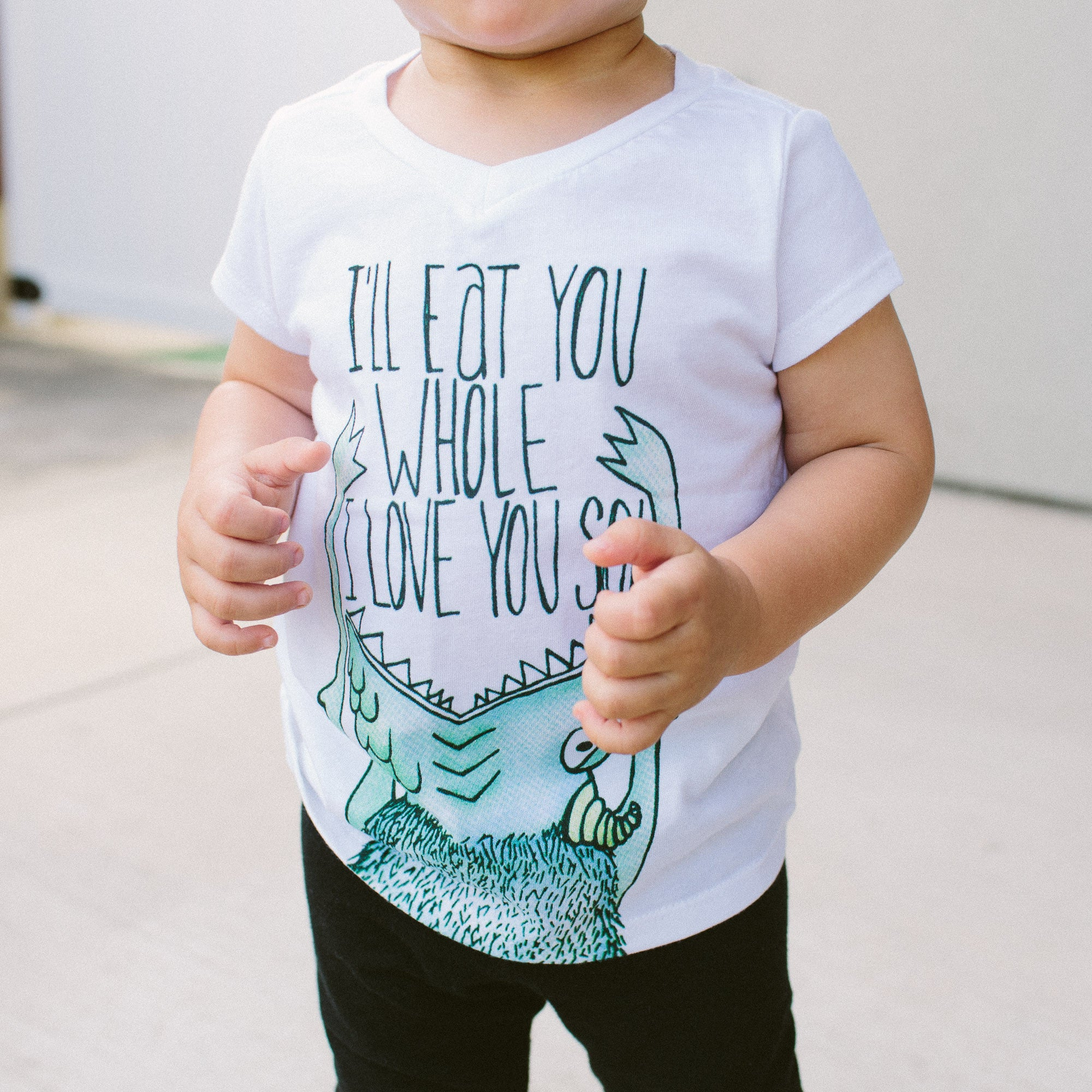 Monster 'I'll Eat You Whole' Tee - Alexandra Rose Handmade