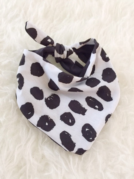 Jersey Drool Bib - Sten in Black & White - Alexandra Rose Handmade