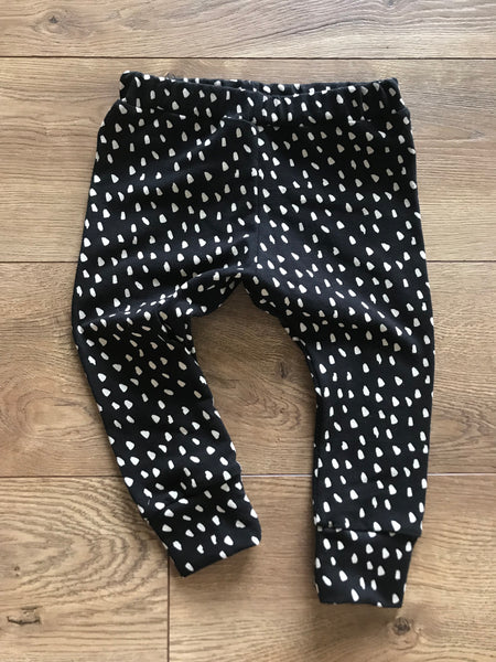 Jersey Leggings in Black Dash - Alexandra Rose Handmade