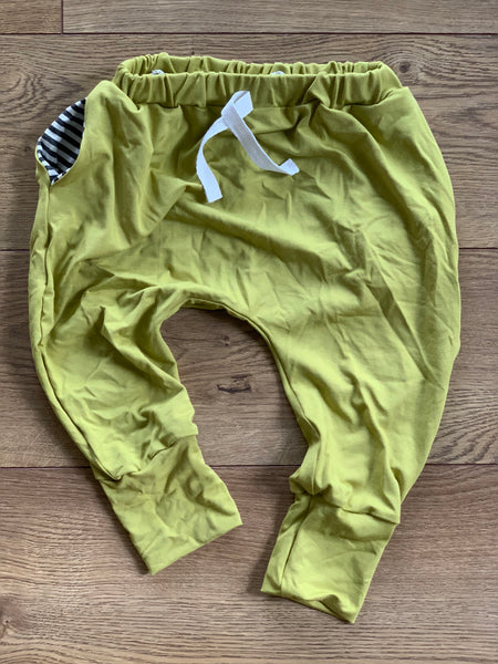 Jogger Sweats in Lime - Alexandra Rose Handmade