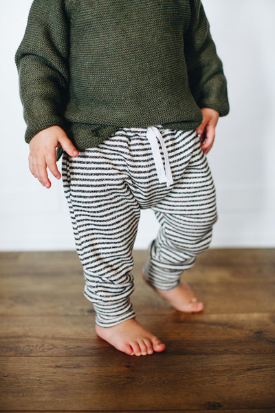 Jogger Sweats in Stripe - Alexandra Rose Handmade