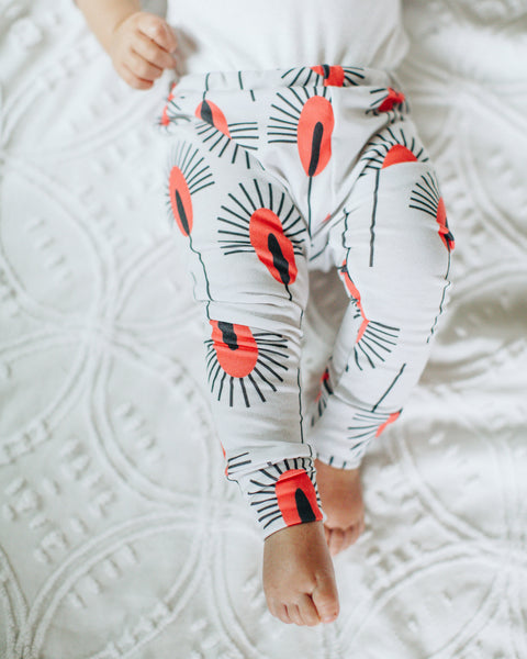 Jersey Leggings in Sunset Thistle - Alexandra Rose Handmade