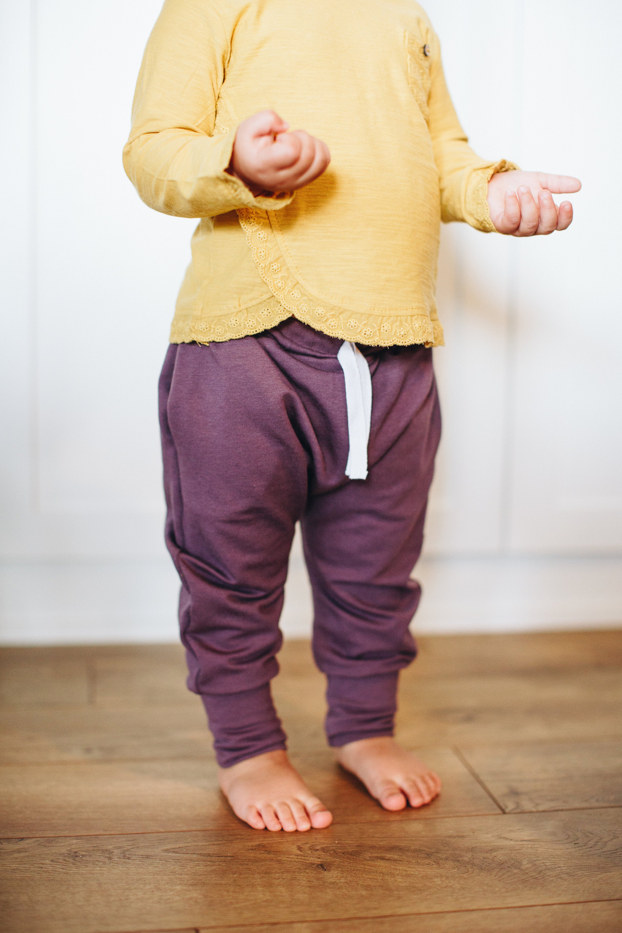 Jogger Sweats in Plum - Alexandra Rose Handmade