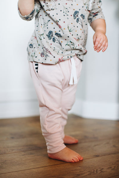 Jogger Sweats in Blush - Alexandra Rose Handmade