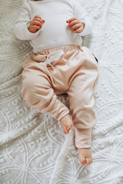 Jogger Sweats in Blush + Blomma - Alexandra Rose Handmade