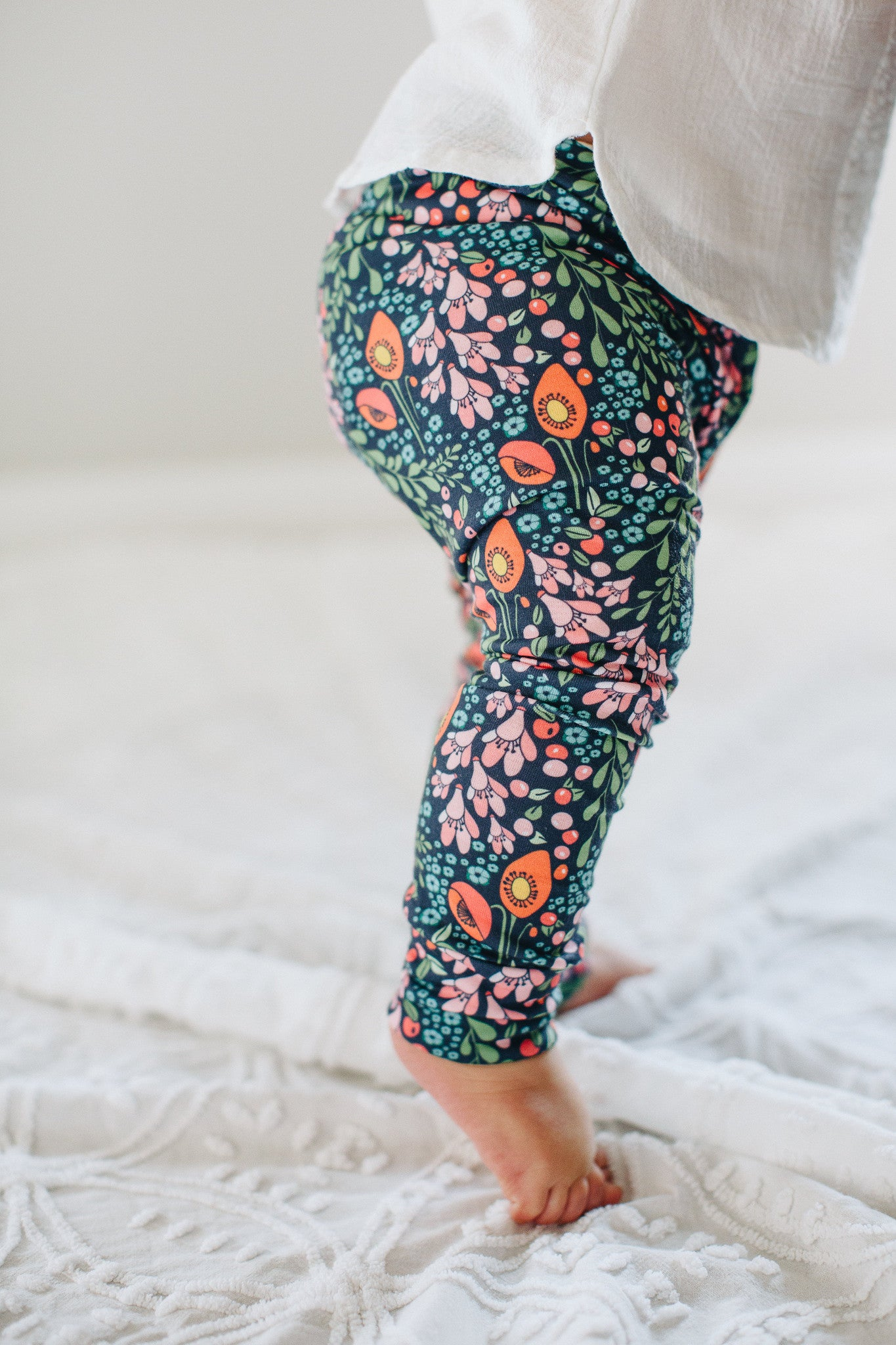 Jersey Leggings in Blomma - Alexandra Rose Handmade