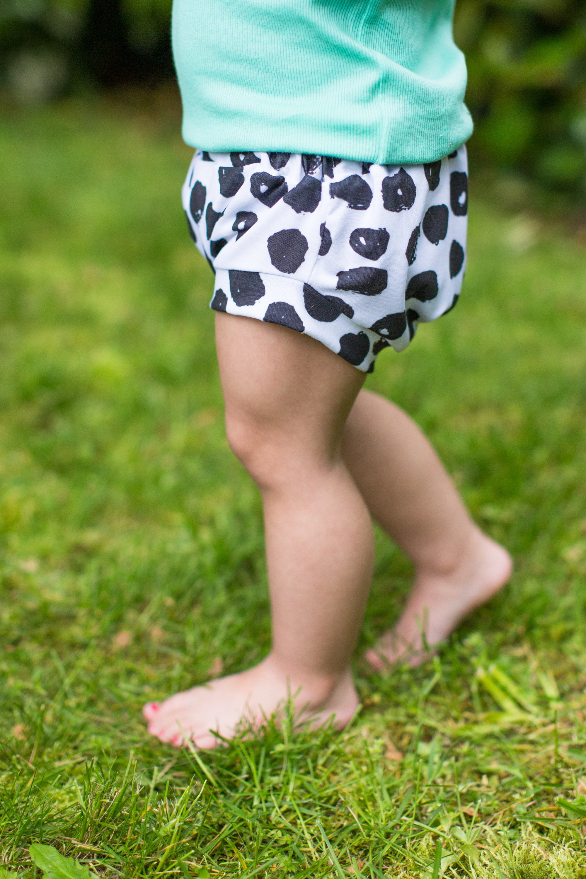 Classic Bloomers in Black & White Dot