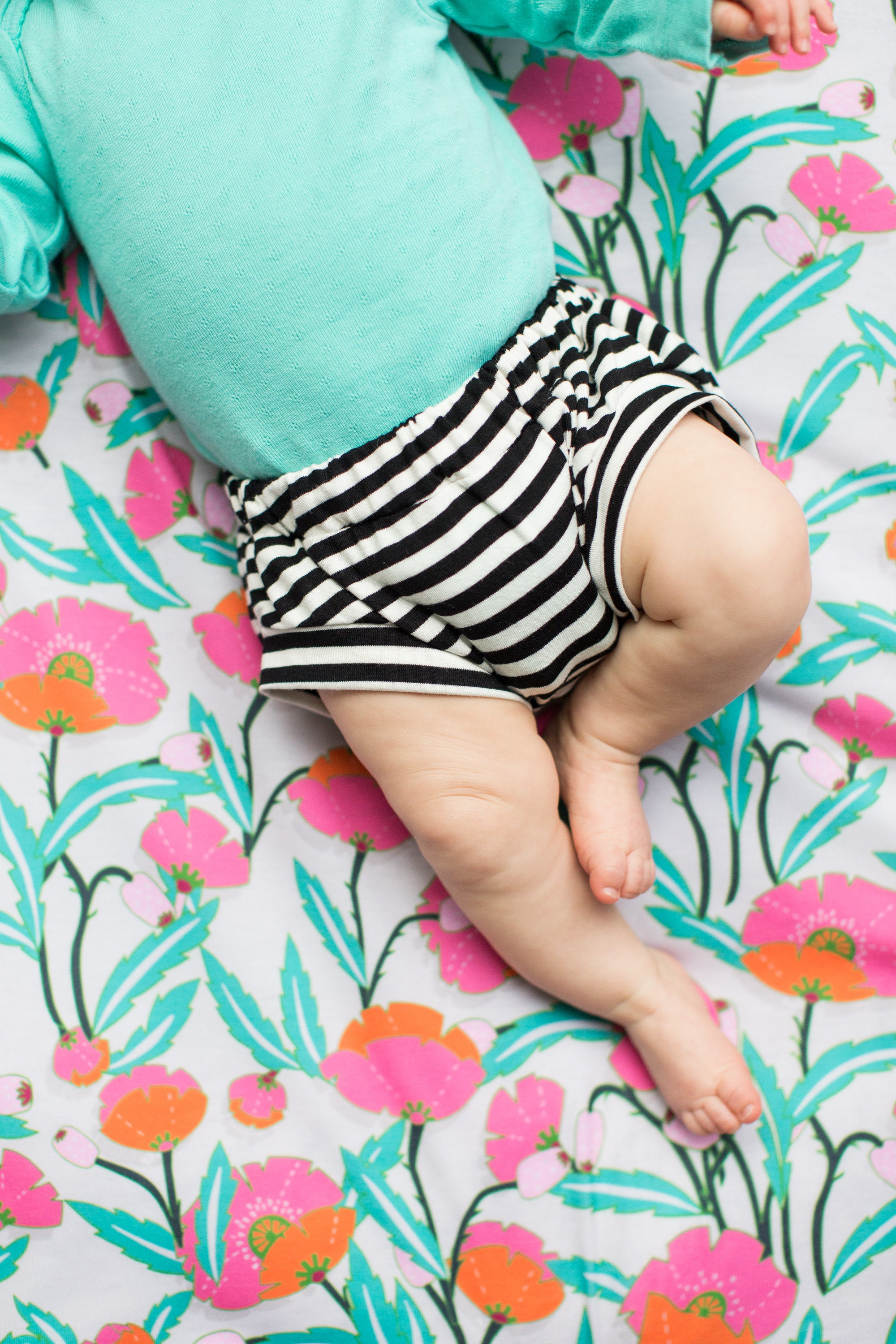 Classic Bloomers in Black & White Stripe