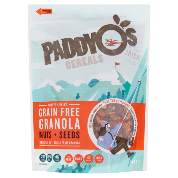 PaddyO's Gluten Free, Grain Free and High Protein.