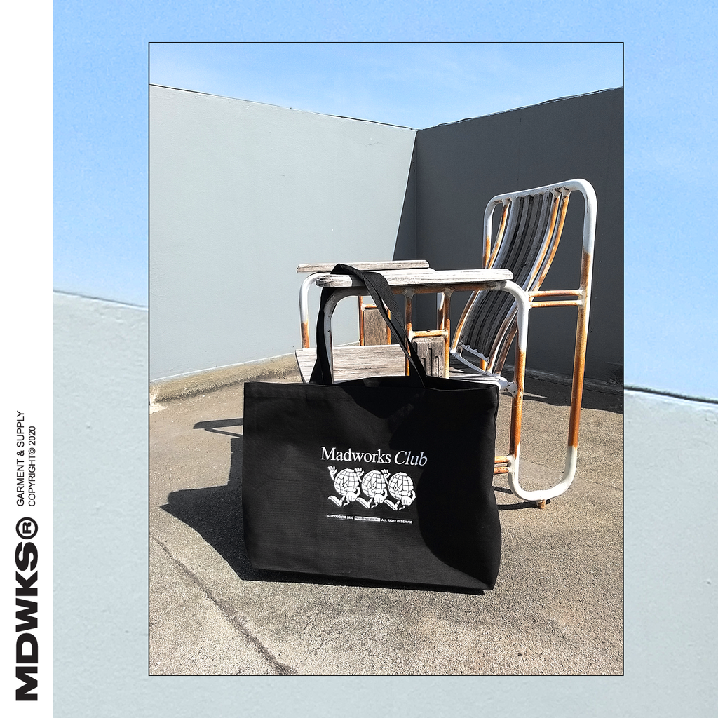 MADWORKSCLOTHING I MAD WORLD SHOPPING BAG