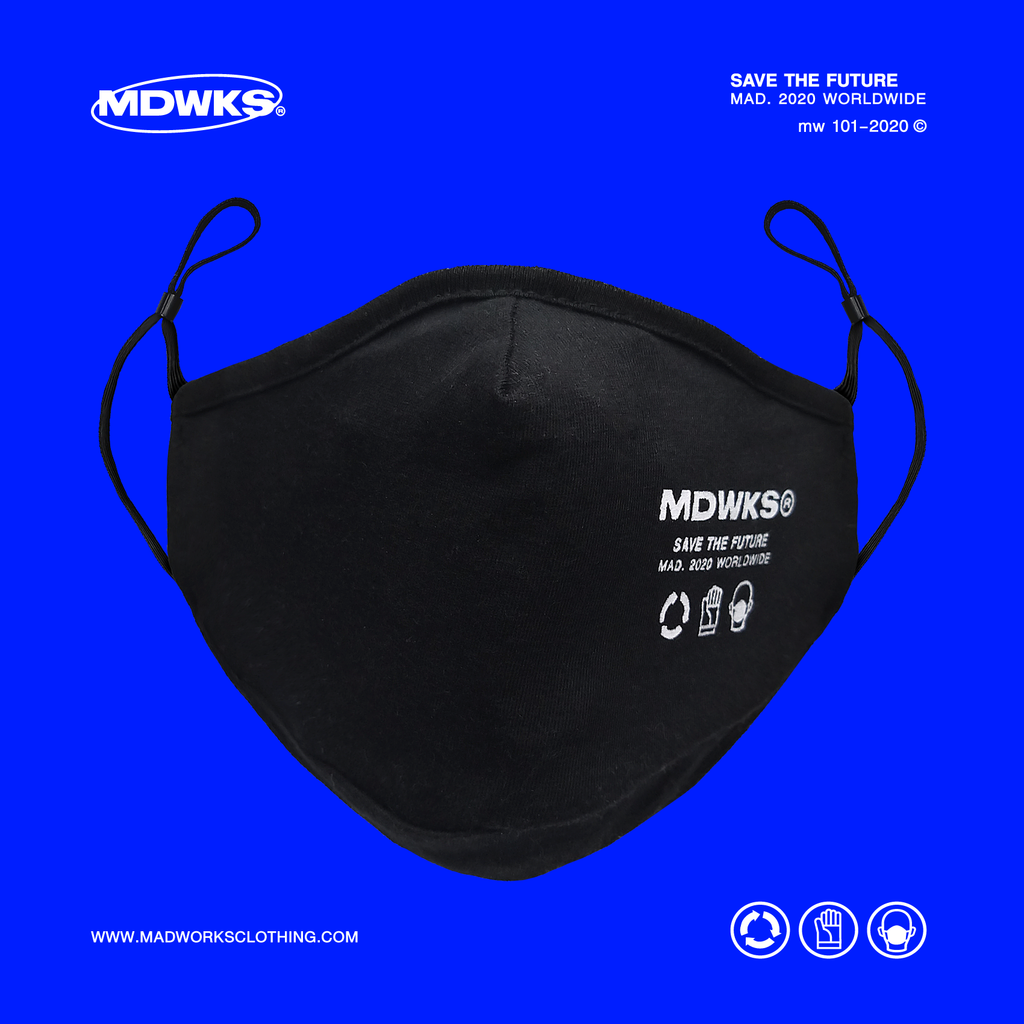 MADWORKSCLOTHING I MAK-002: MADWORKS LOGO MASK (1 PACK) 3 PIECES