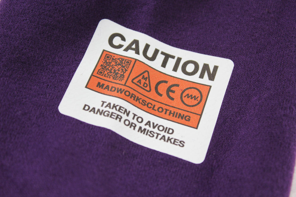 HD-006: MADWORKS CLUB HOODIE OVERSIZE (PURPLE)