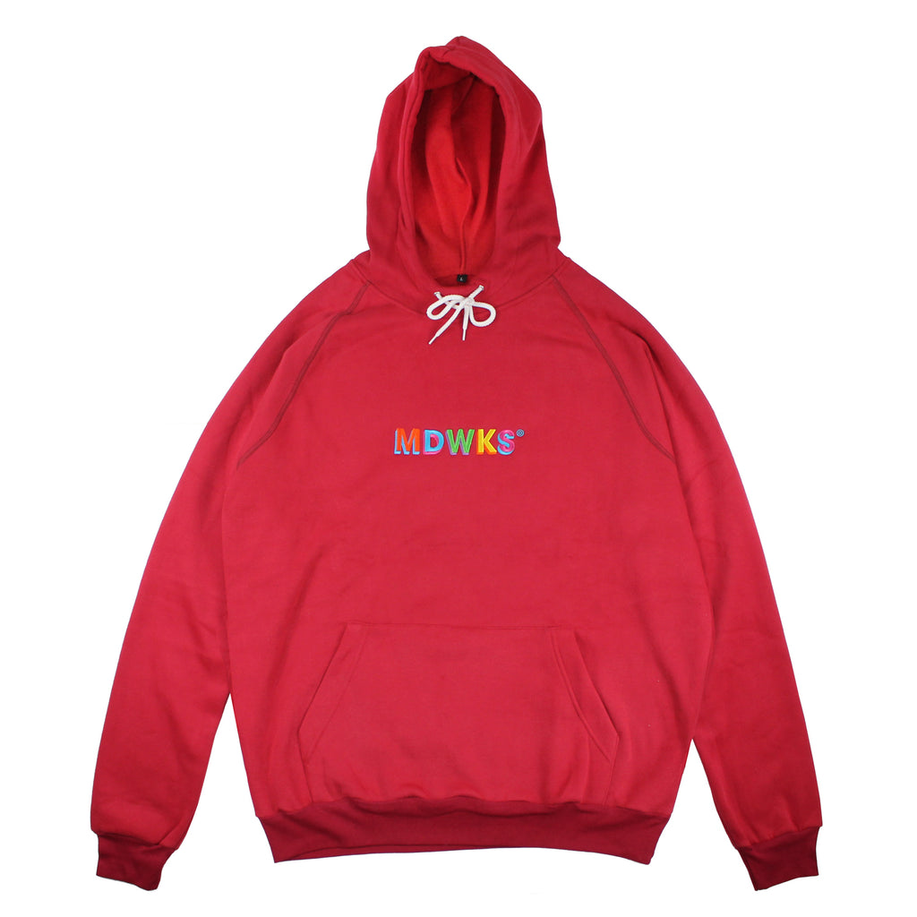 HD-005: MAD TWIST HOODIE OVERSIZE (RED)