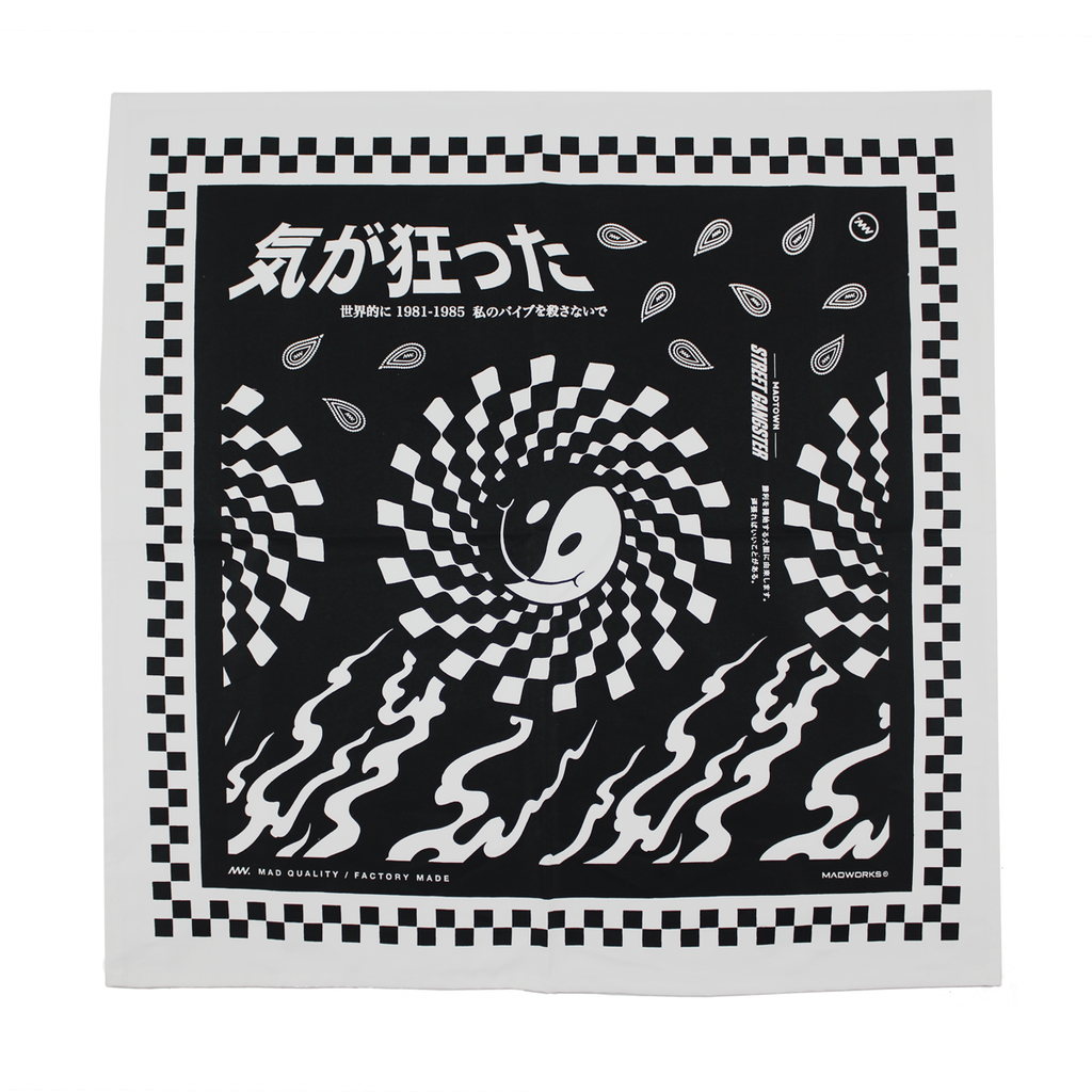 BDN-001: WEIRD BANDANA (BLACK)