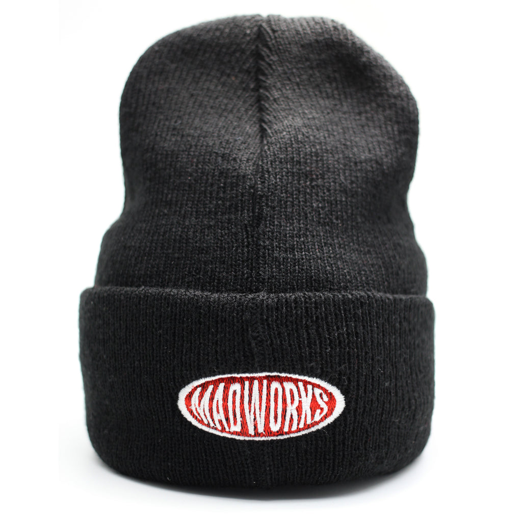 BAH-002 MADWORKS OVAL BEANIES HAT (BLACK)