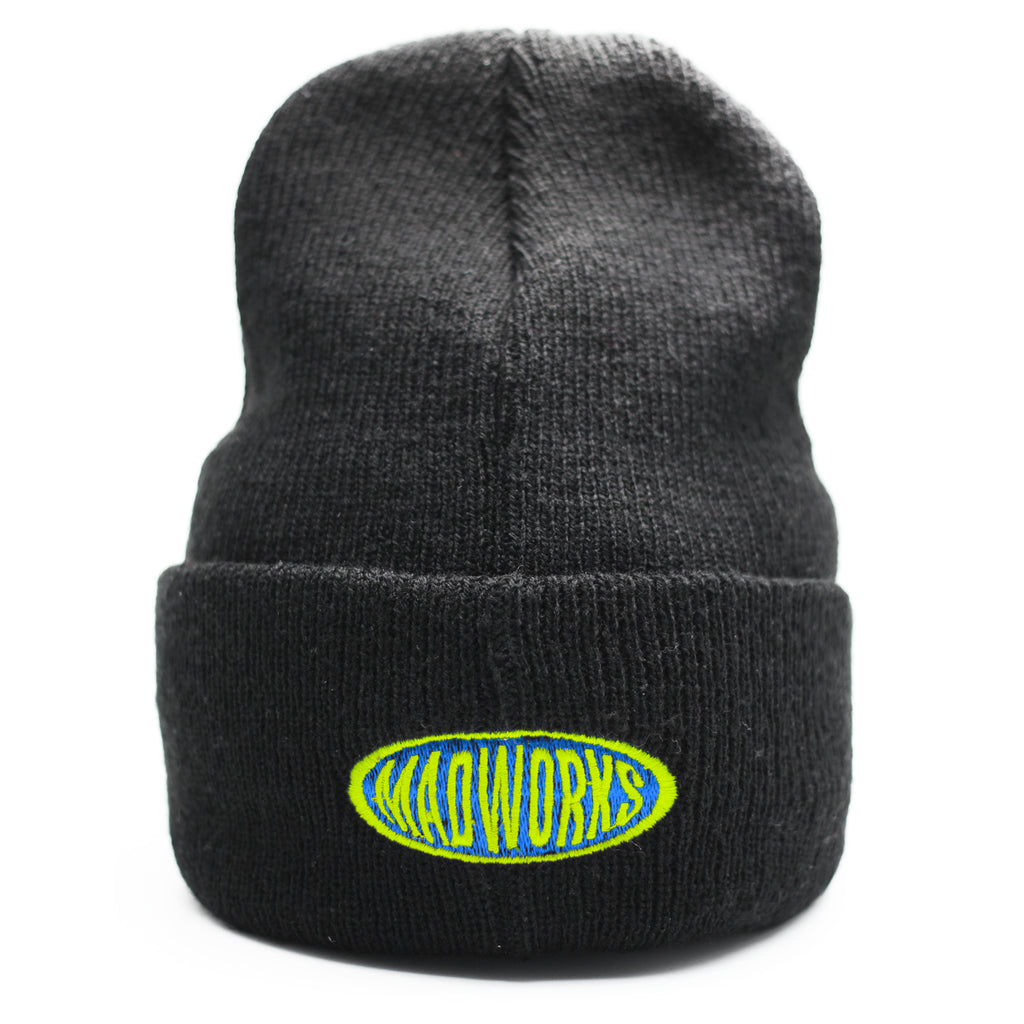 BAH-002 MADWORKS OVAL BEANIES HAT (BLUE,GREEN)