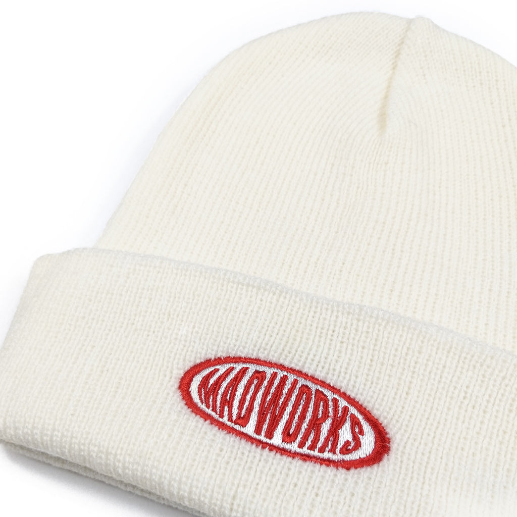 BAH-002: MADWORKS OVAL BEANIES HAT (WHITE)
