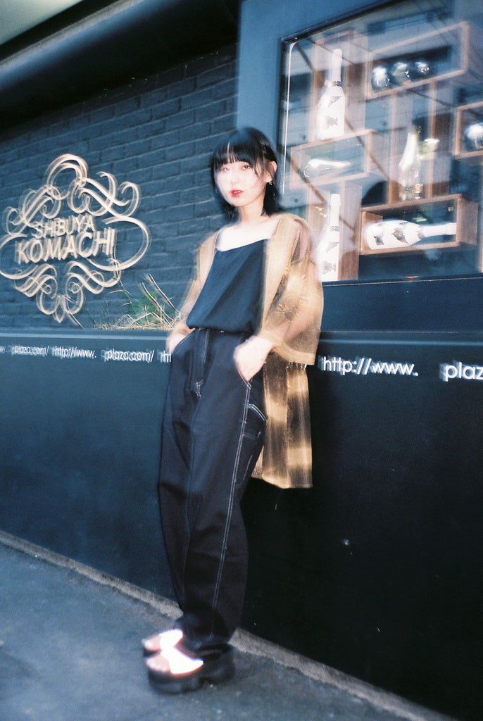PN-004: MDWKS 90's LOOSE FIT PANTS (BLACK)