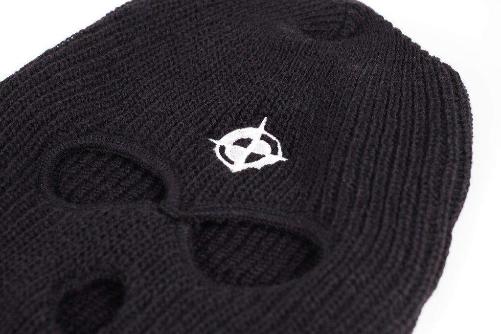 MAK-001 MAD EMBROIDERED SKI MASK (WHITE)