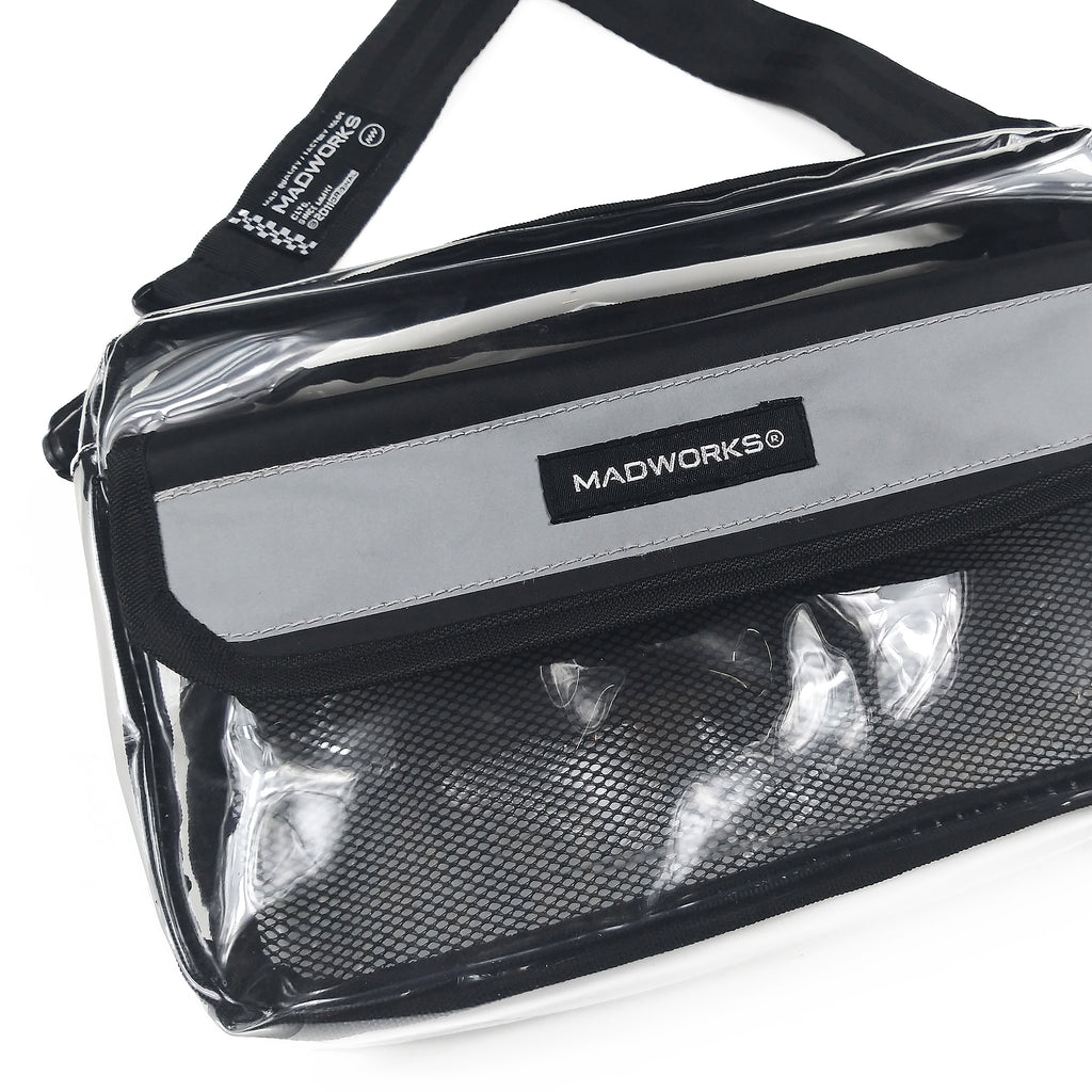 SBAG-007: MADWORKS LONG REFLEX SHOULDER BAG (CLEAR)