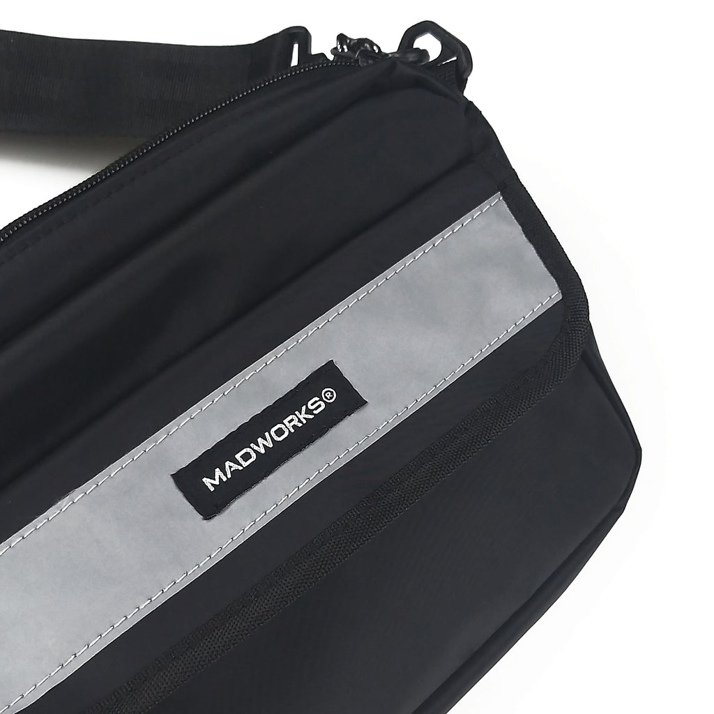SBAG-007: MADWORKS LONG REFLEX SHOULDER BAG (BLACK)